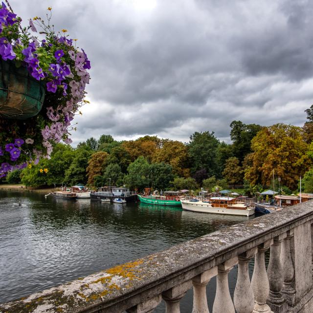 """Kingston Upon Thames Bridge"" stock image"