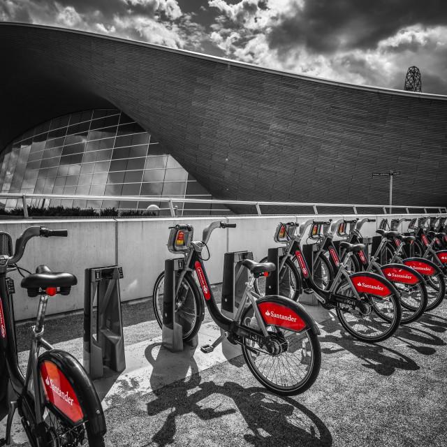 """London Boris Bikes"" stock image"