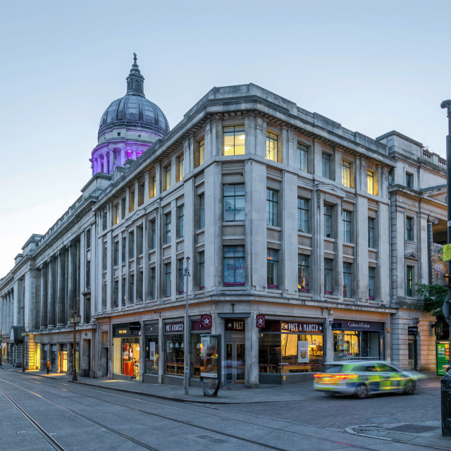 """""""The Exchange Shopping Arcade in Nottingham City Centre"""" stock image"""