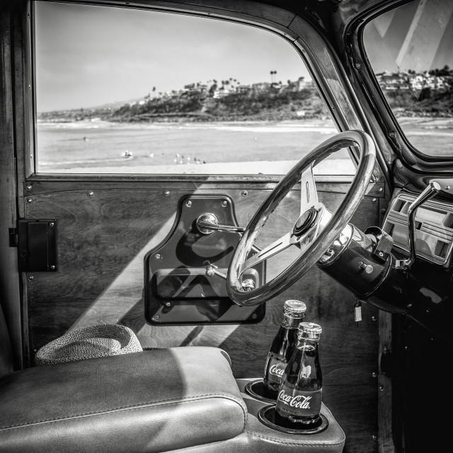 """Vintage Car Interior"" stock image"