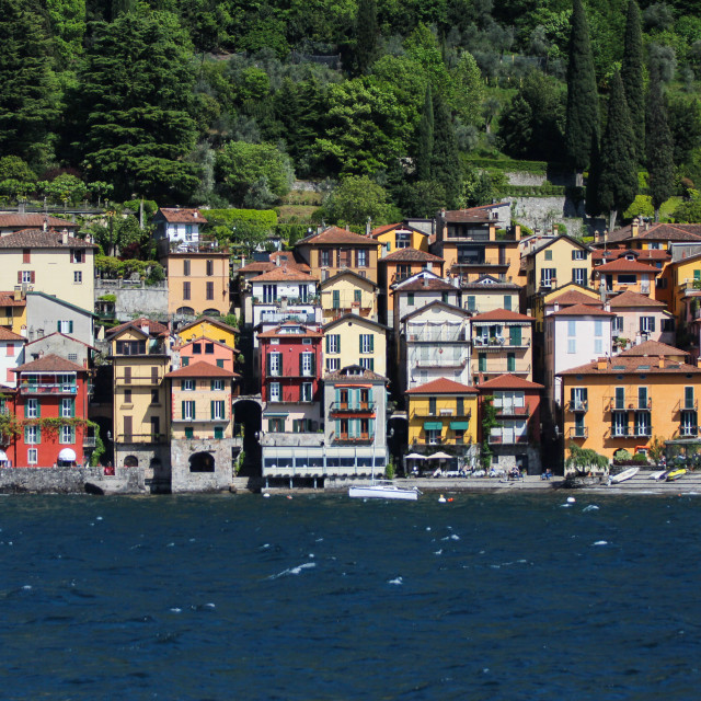 """Varenna From The Lake"" stock image"
