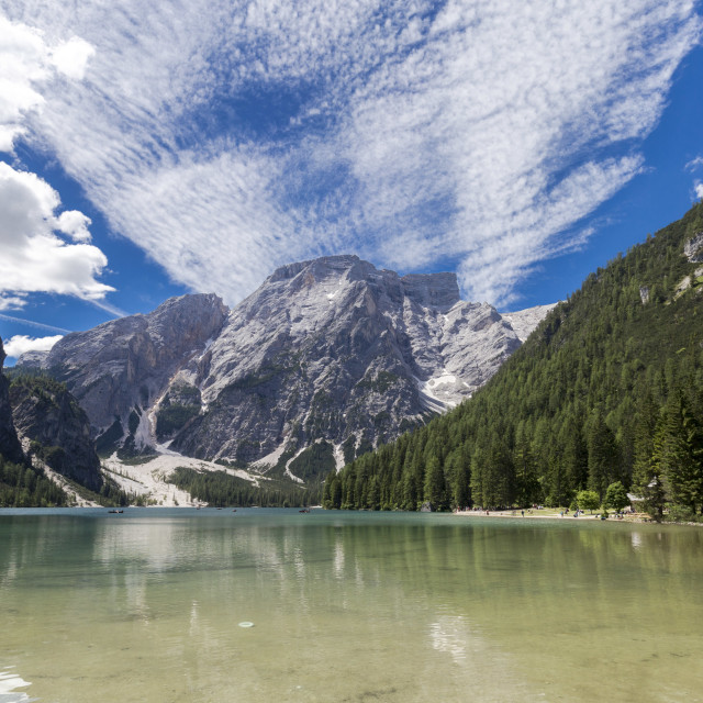 """Lake of Braies"" stock image"