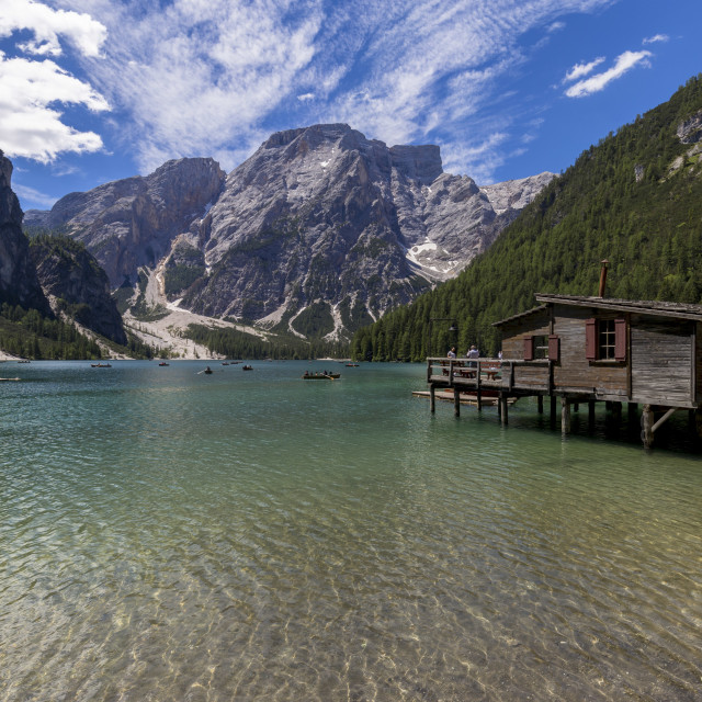 """Lake of Braies"" stock image"