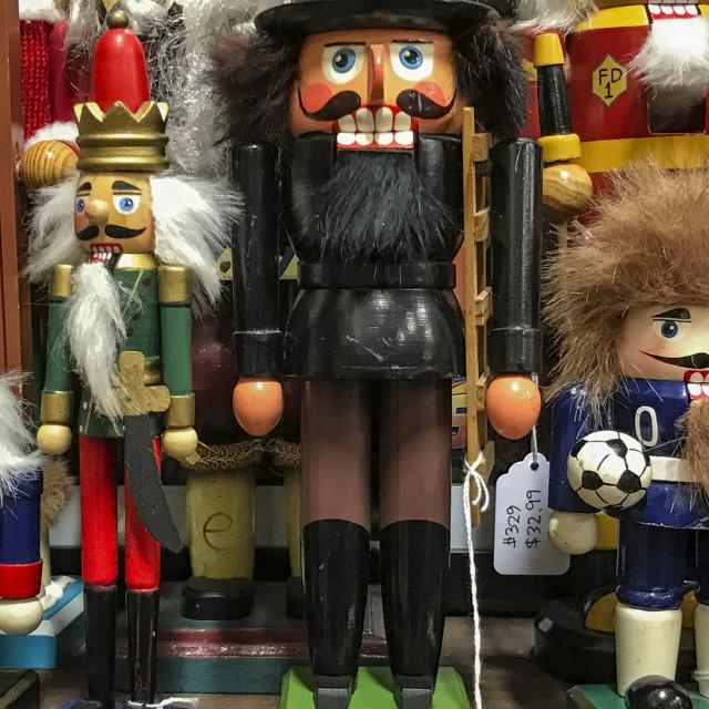"""Variety of nutcracker figurines"" stock image"