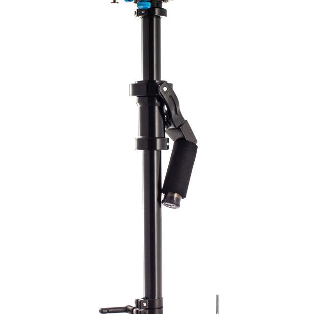 """""""Video Camera Gimbal Stabilization isolated on white. DSLR Videog"""" stock image"""