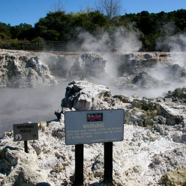 """""""Hell's Gate, Rotorua"""" stock image"""