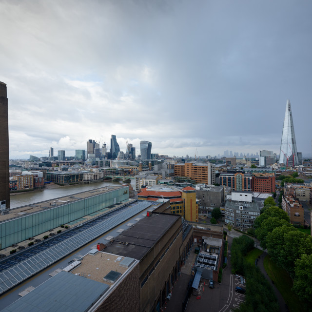 """""""LONDON, UK - 15 Sep 2017: The Tate Modern Gallery tower is popular viewpoint..."""" stock image"""