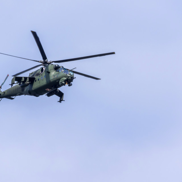 """""""Mi-24 attack helicopter"""" stock image"""