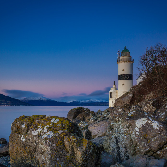 """Cloch Lighthouse"" stock image"