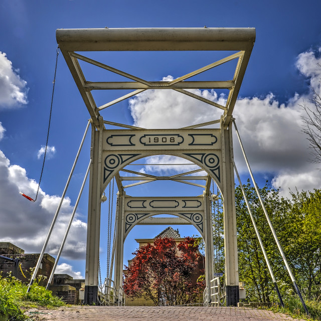"""Historic drawbridge"" stock image"