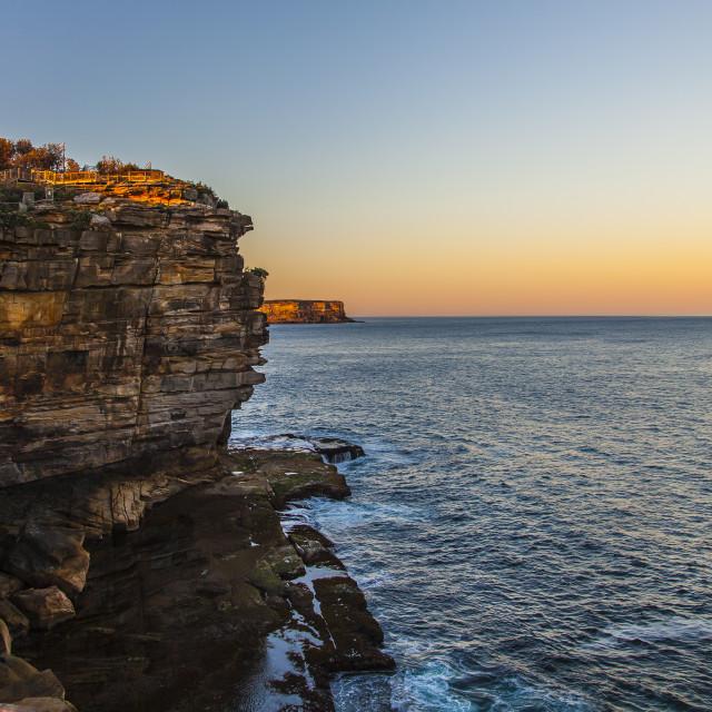 """Ocean Cliff"" stock image"