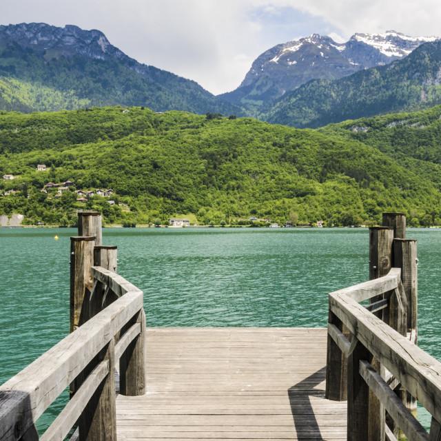 """Lake Annecy views"" stock image"