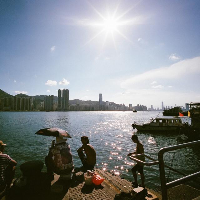 """Lei Yu Mun, Hong Kong"" stock image"