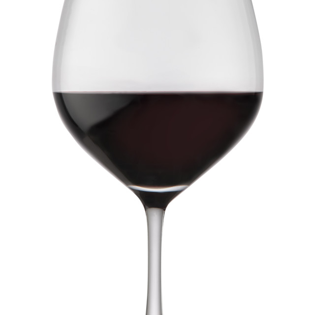 """Red wine in a glass"" stock image"
