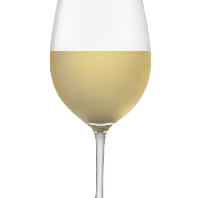 """""""White wine in a glass"""" stock image"""
