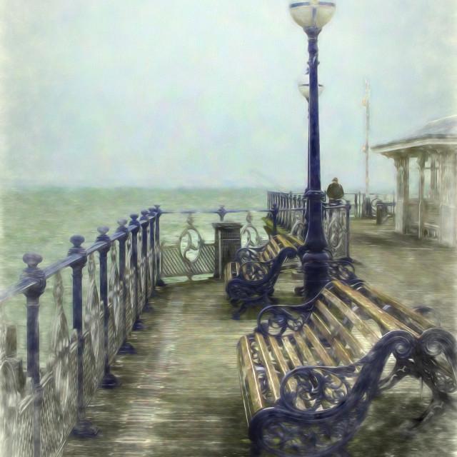 """""""Nostalgic Pier Swanage"""" stock image"""