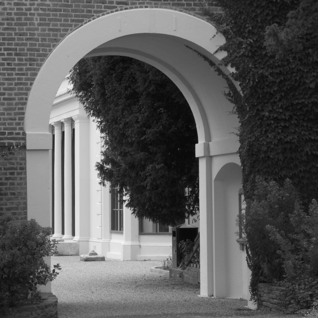 """""""Archway To The Museum"""" stock image"""