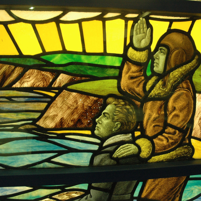 """""""Stained Glass Memorial"""" stock image"""