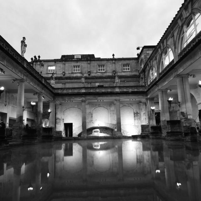 """The Great Roman Bath House"" stock image"