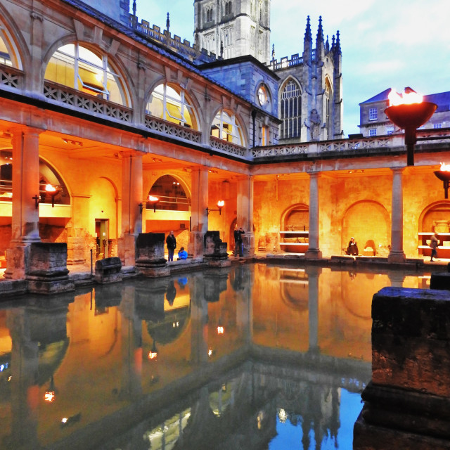 """The Great Roman Bath House"" stock image"
