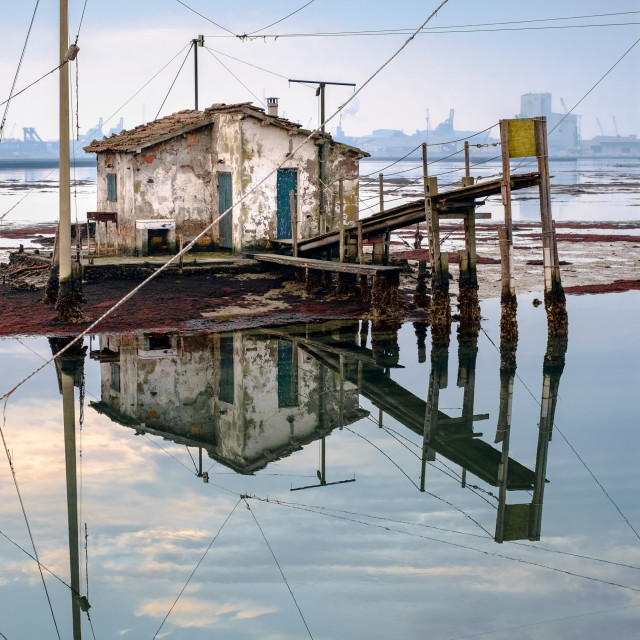 """Old fishing house"" stock image"