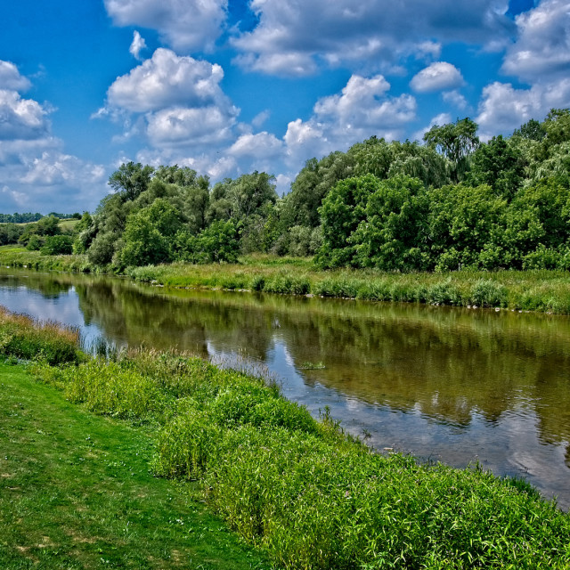 """Grand River Summer Day"" stock image"