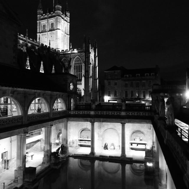 """The Roman Bath House"" stock image"
