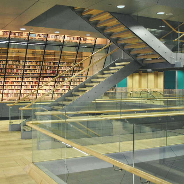 """""""Library stairs."""" stock image"""