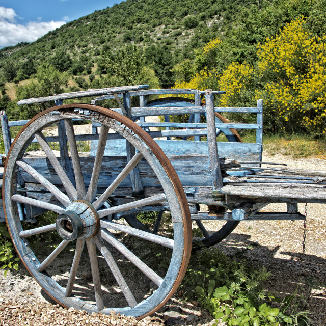 """Old cart and views"" stock image"