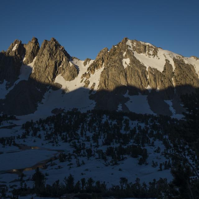 """Sunrise in the Sierra"" stock image"