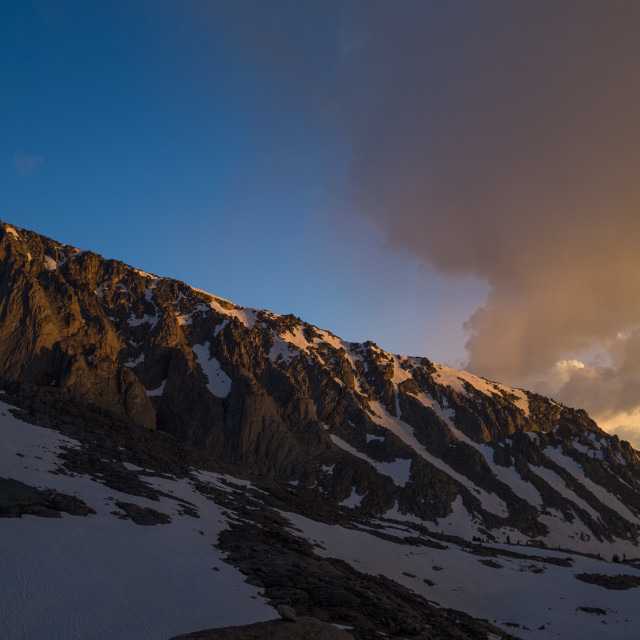 """""""Sunset in the High Sierra"""" stock image"""