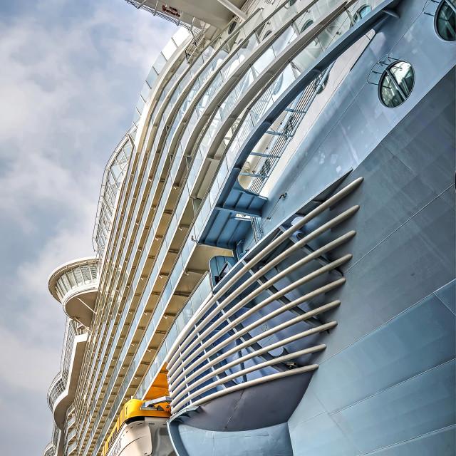 """Cruiseship starboard"" stock image"