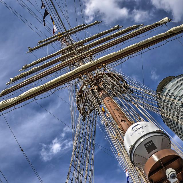 """Mast of a sailing ship"" stock image"