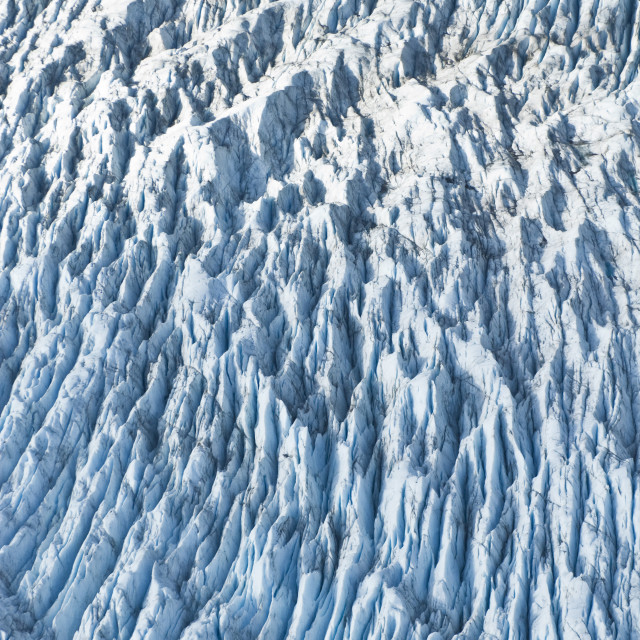 """Aerial Detail Of Ice Crevasses On Colony Glacier In Matanuska-Susitna Valley,..."" stock image"