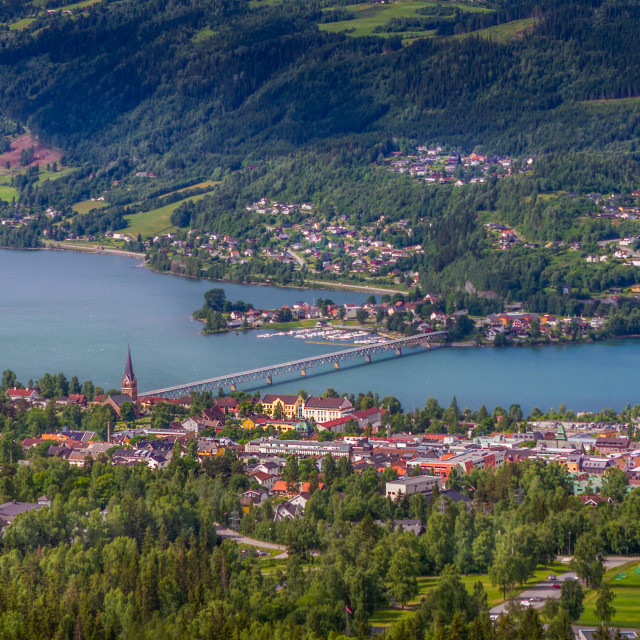 """""""City of Lillehammer in Norway"""" stock image"""