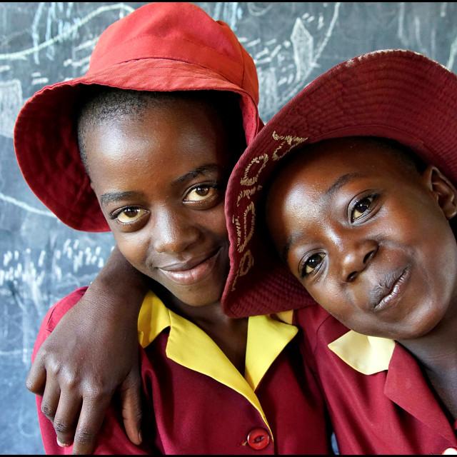 """Zimbabwean School Girls"" stock image"