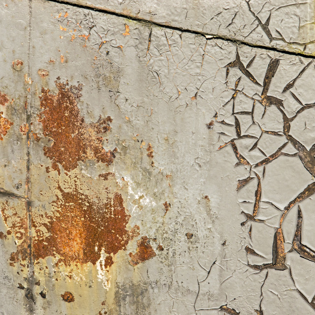 """""""Rust and peeling on a ship's hull"""" stock image"""