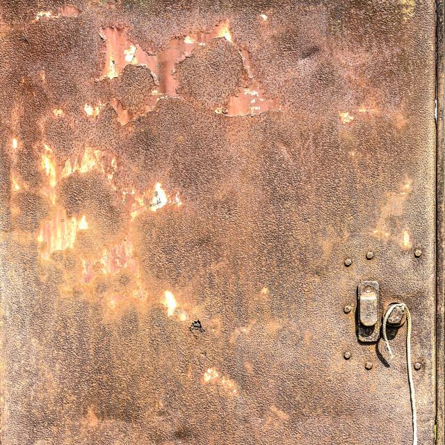 """""""Old rusty steel door"""" stock image"""