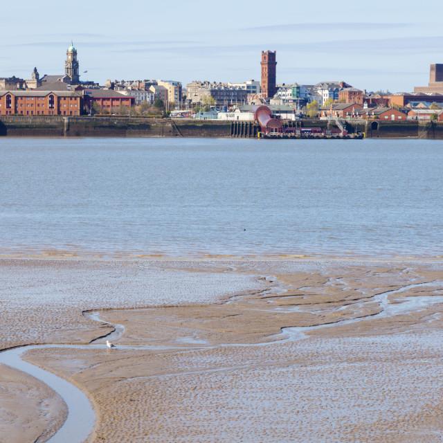 """Birkenhead seen from Liverpool"" stock image"