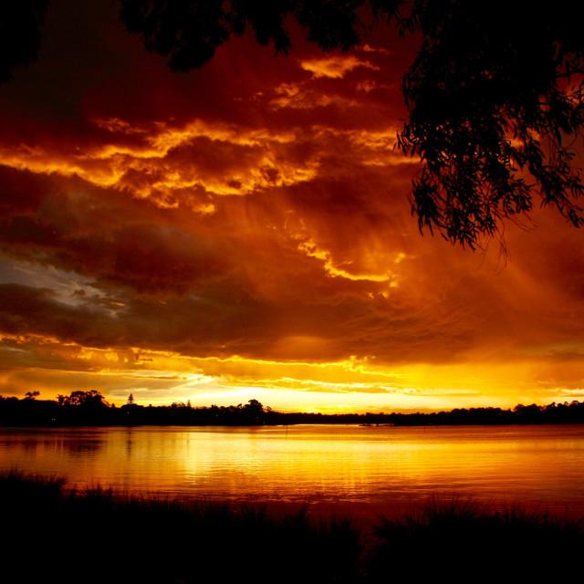 """""""Fiery sky"""" stock image"""