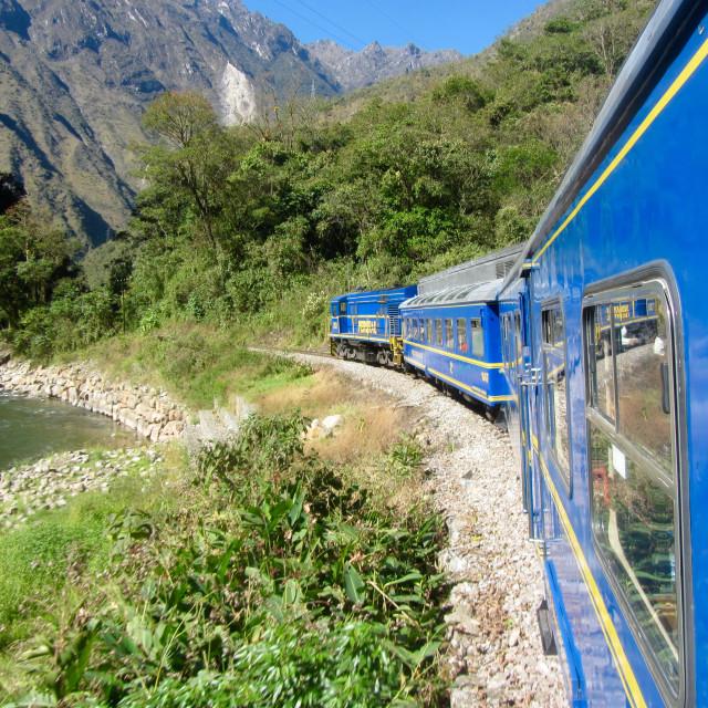 """Machu Picchu here we come"" stock image"