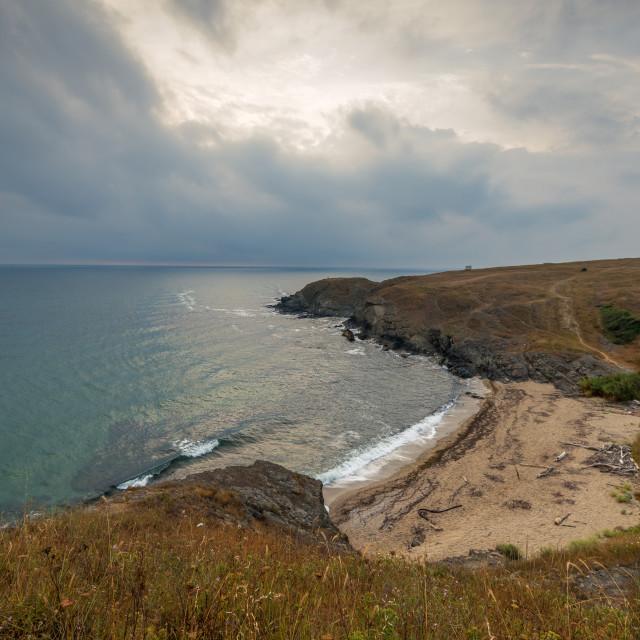 """Veleka beach near the Sinemorets village."" stock image"