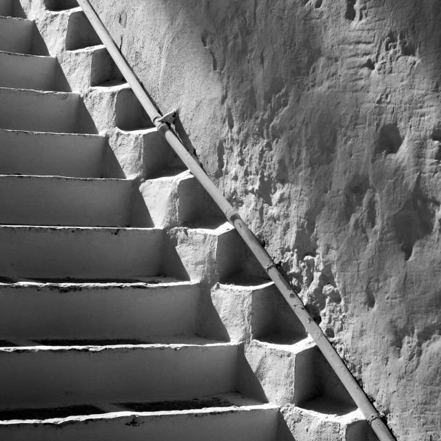 """""""Steps and Shadows"""" stock image"""
