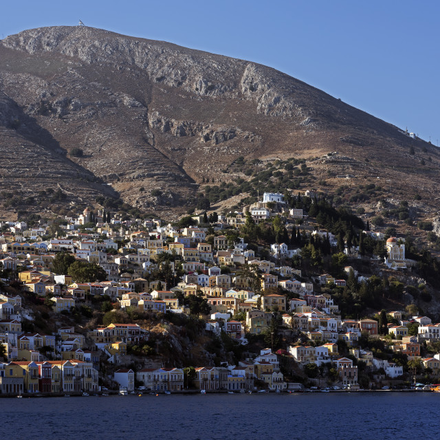 """""""Symi Town Early Morning"""" stock image"""