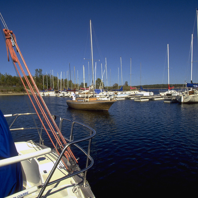"""Sailboat Marina Stockton Lake"" stock image"