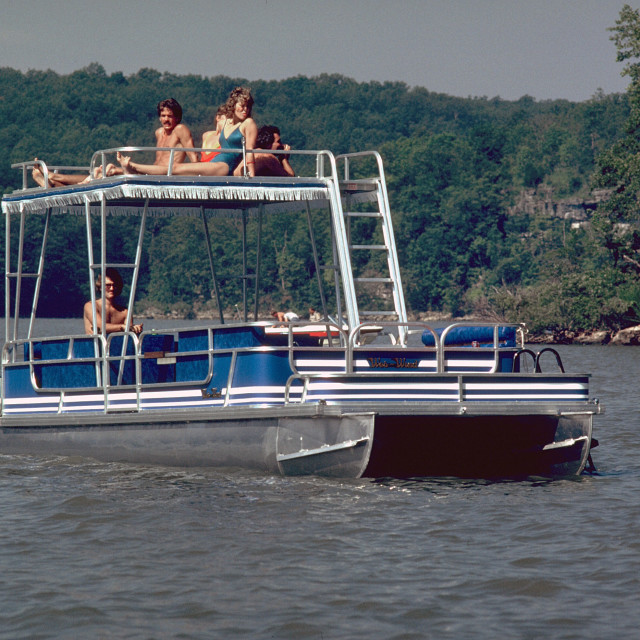 """Pontoon Boat"" stock image"