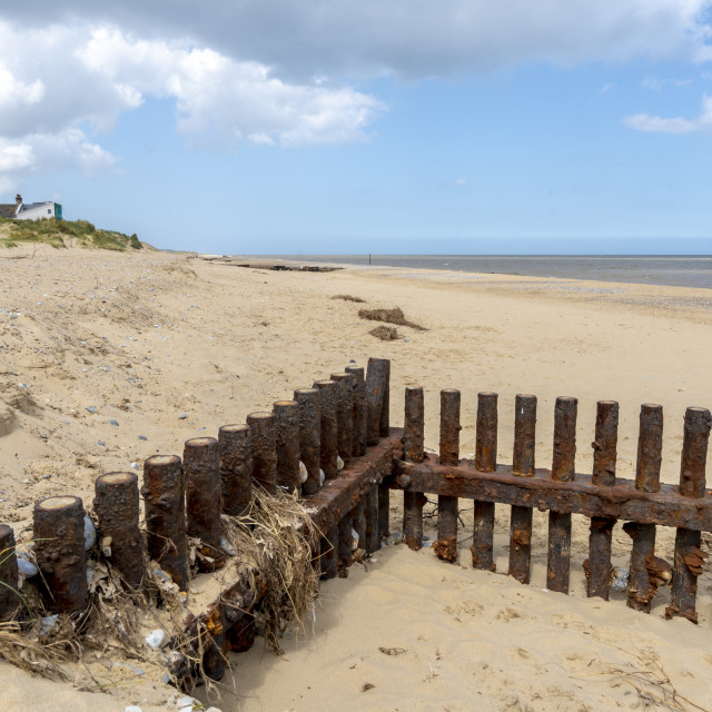 """Erosion defence barriers"" stock image"