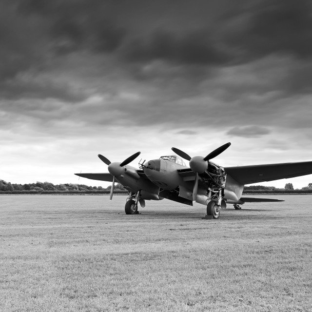 """De Havilland Mosquito HJ711"" stock image"