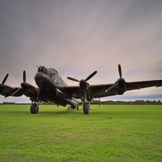 """AVRO Lancaster NX611 'Just Jane'"" stock image"