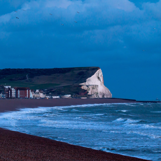 """Seaford Head in Last Sunlight"" stock image"